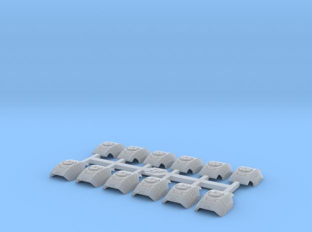 Shoulder Pads Curved Kilo 1 in Smooth Fine Detail Plastic