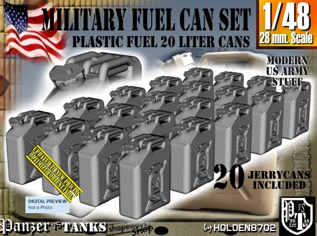 1/48 Military Fuel Can Set201 in Frosted Ultra Detail