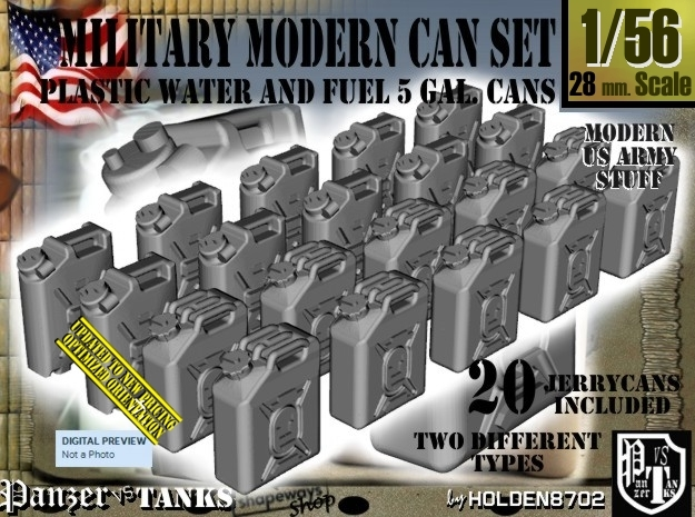 1/56 Military Fuel+Water Can Set401 in Frosted Ultra Detail