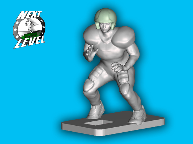 Left Offensive Guard (2.2g) in Smooth Fine Detail Plastic