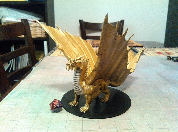 Adult Gold Dragon in Yellow Processed Versatile Plastic