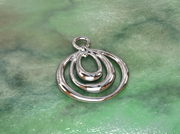 Circles  in Polished Silver