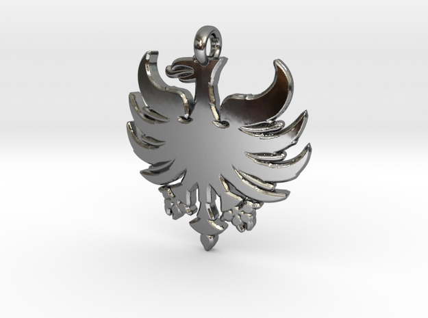 Heerlen-pendant 3cm in Fine Detail Polished Silver