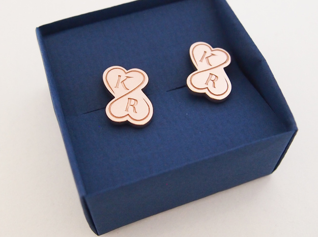 anchor cuff link in 14k Rose Gold Plated Brass