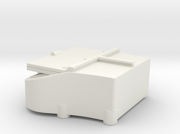 1/144 Bismarck stern deck hatch v8 in White Natural Versatile Plastic