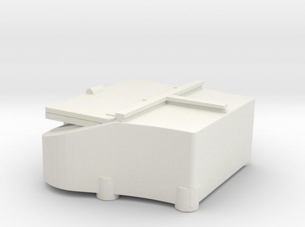1/144 Bismarck stern deck hatch v8 in White Natural Versatile Plastic