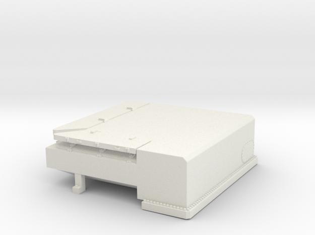 1/144 Bismarck stern deck hatch v2 in White Natural Versatile Plastic