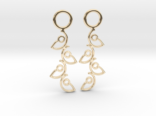 """Climbing"" Earrings  in 14k Gold Plated Brass"