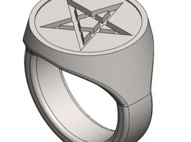 Pentagram Signet Ring 3d printed