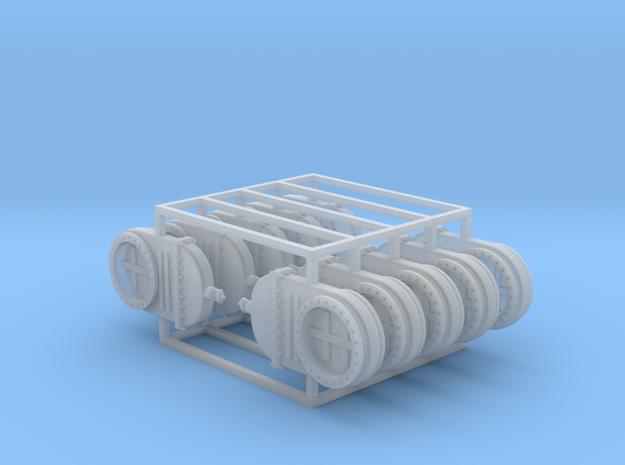 Absperrschieber 1000mm 10erSet - TT 1:120 in Smooth Fine Detail Plastic