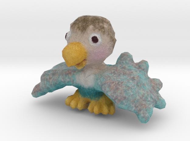 Baby Eaglet (wings down) in Full Color Sandstone