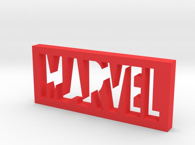 Marvel Logo in Red Processed Versatile Plastic