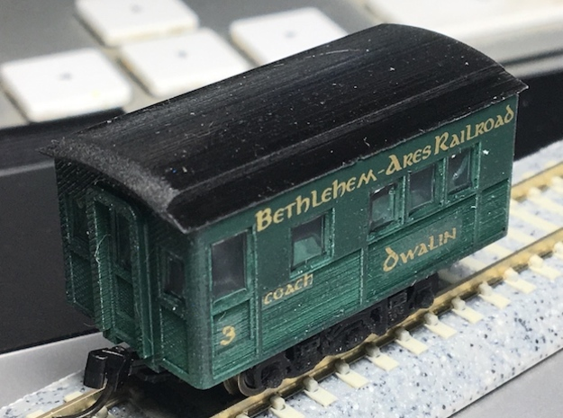N Scale Oscar 20 foot Heavyweight Passenger Car