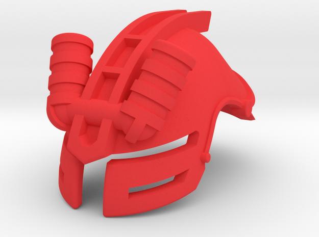 Glatorian Helmet 1 in Red Processed Versatile Plastic
