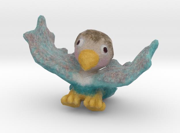 Baby Eaglet (wings up) in Full Color Sandstone