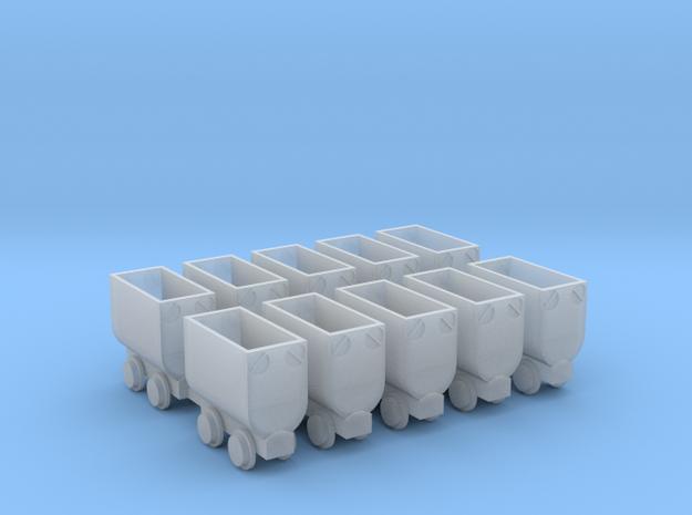 Kohlehunt / Erzhunt 10erSet - TTf 1:120 in Smooth Fine Detail Plastic