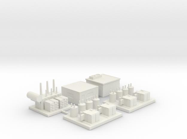 Transformer Station C Sprue in White Natural Versatile Plastic