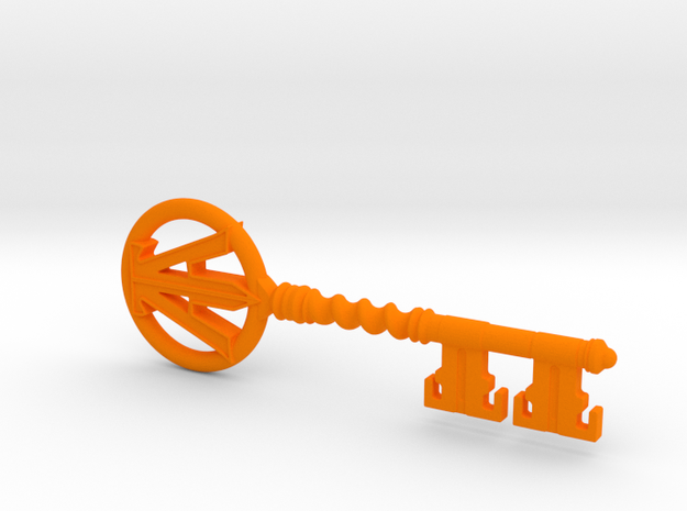 Ready Player One - Copper Key in Orange Processed Versatile Plastic