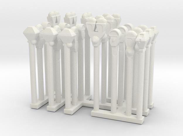 Parking Meters - Variation - Sprue  in White Natural Versatile Plastic