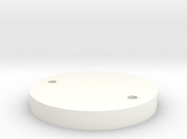 DJI SPARK ESC Cap in White Processed Versatile Plastic