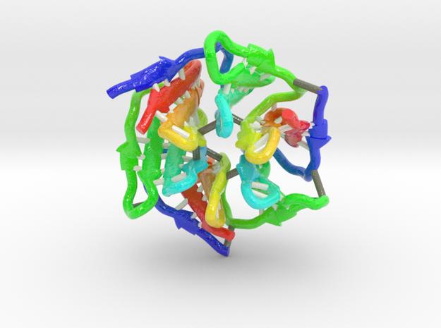 Computationally Designed Pizza2-SR Protein in Glossy Full Color Sandstone