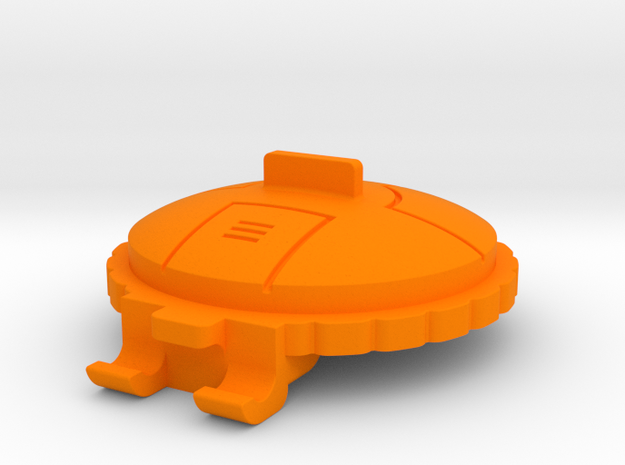 Starcom Blast Track Turret Decklid in Orange Processed Versatile Plastic