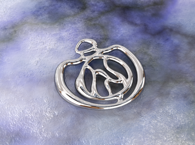 Eye of Fire in Polished Silver