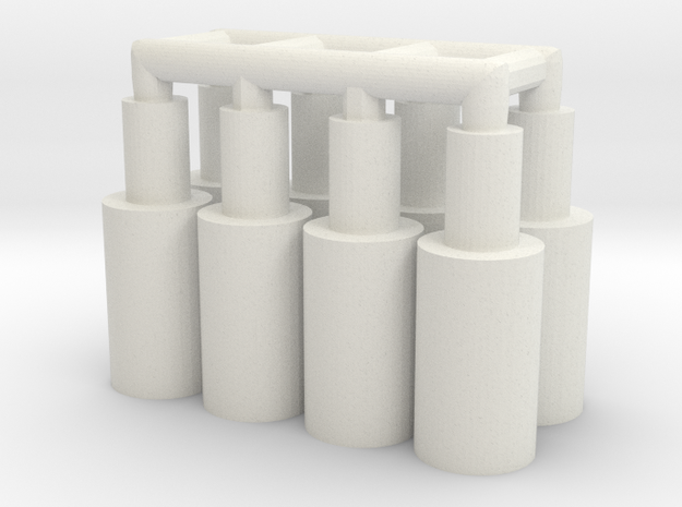 8x MMch to FFG in White Natural Versatile Plastic