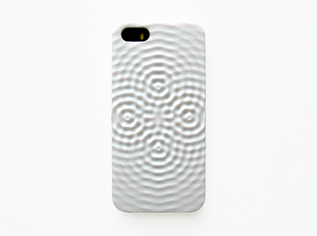 iPhone SE Case_Ripples in White Strong & Flexible Polished