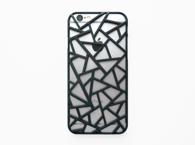 iPhone 6 / 6S case_Triangles in Black Strong & Flexible