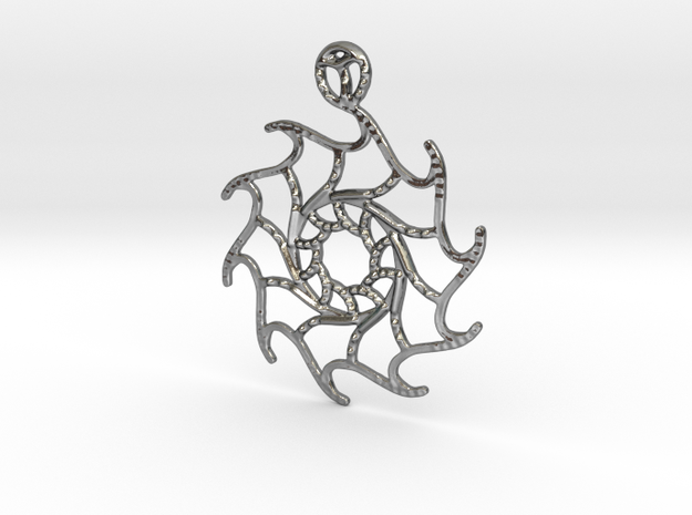 Stella Maris Pendant in Polished Silver