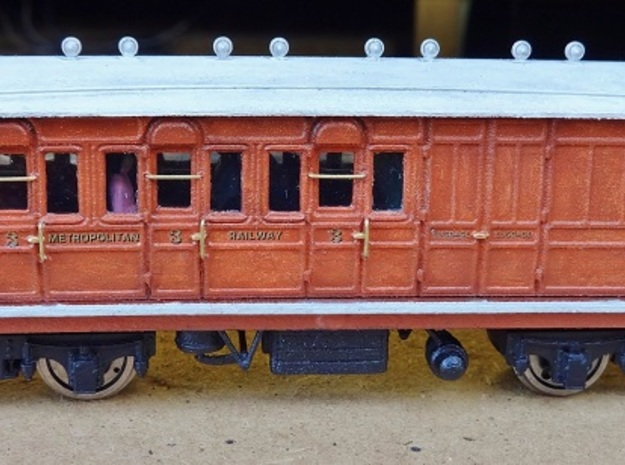 Metropolitan Railway 387 (Brake 3rd Body) OO 3d printed A completed Brake 3rd (387)