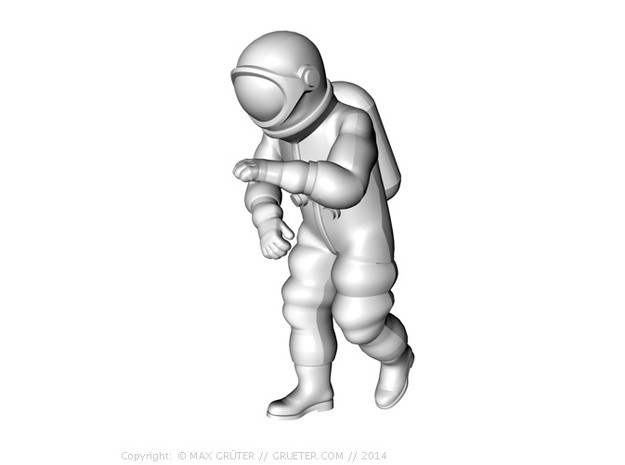 Generic Astronauts Set / 1:72 3d printed Leader climbing position