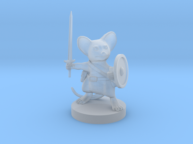 Mousefolk Hero Sword and Shield in Smooth Fine Detail Plastic