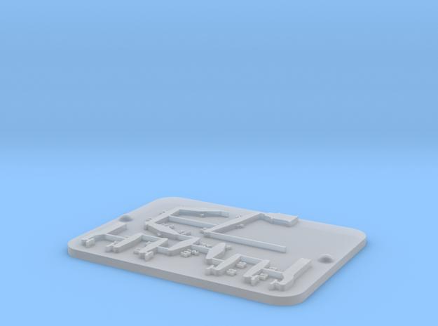 F35 Brake Diagram Badge Plate in Smooth Fine Detail Plastic