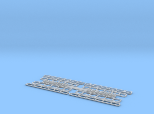 1:35 SU-122/85 Grills for Miniart in Smooth Fine Detail Plastic