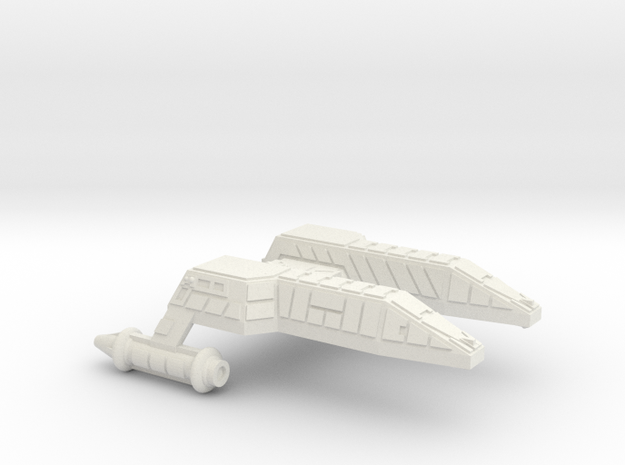3788 Scale Lyran Refitted Leopard Destroyer (DD)  in White Strong & Flexible