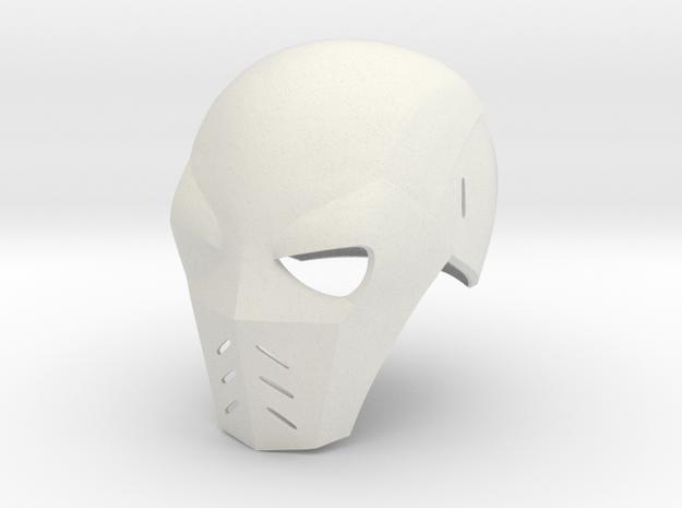Deathstroke Arrow: Season 2 helmet without jaw pie in White Natural Versatile Plastic