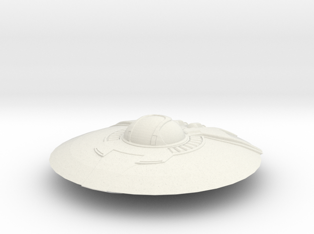 Crypto Saucer in White Natural Versatile Plastic