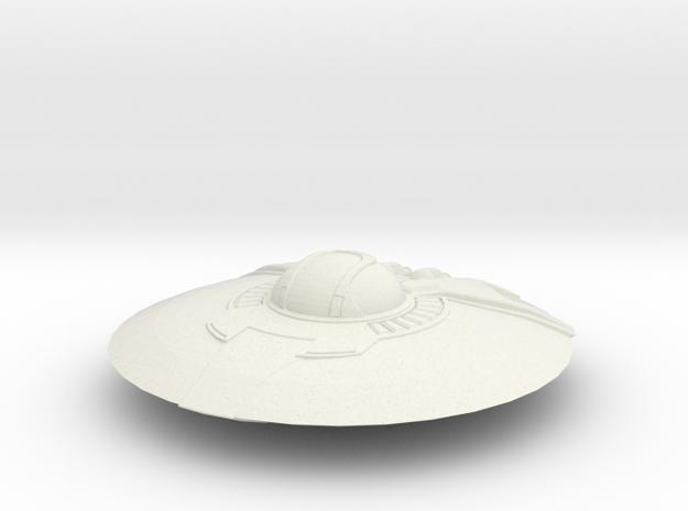 Crypto Saucer in White Natural Versatile Plastic