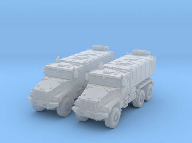 1/285 (6mm) Russian Ural Typhoon 63095 MRAP x2 in Smooth Fine Detail Plastic