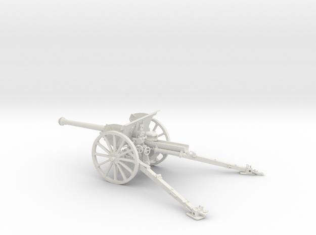 1/30 IJA Type 90 75mm Field Gun (horse drawn) in White Natural Versatile Plastic