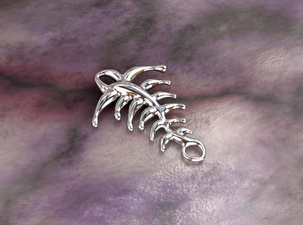 Memory of fish in Polished Silver