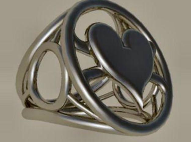 Size 23 0 mm LFC Hearts in Polished Bronzed Silver Steel
