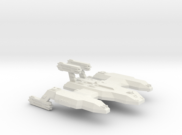 3788 Scale Lyran Unrefitted Cave Lion Battleship in White Natural Versatile Plastic