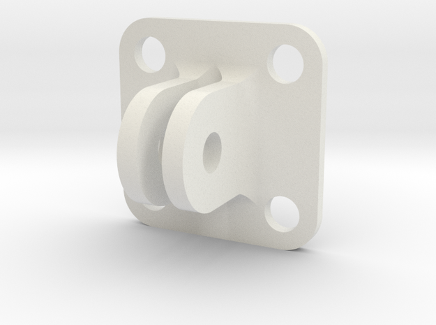 30x30 Flat Surface Mount GoPro  in White Natural Versatile Plastic
