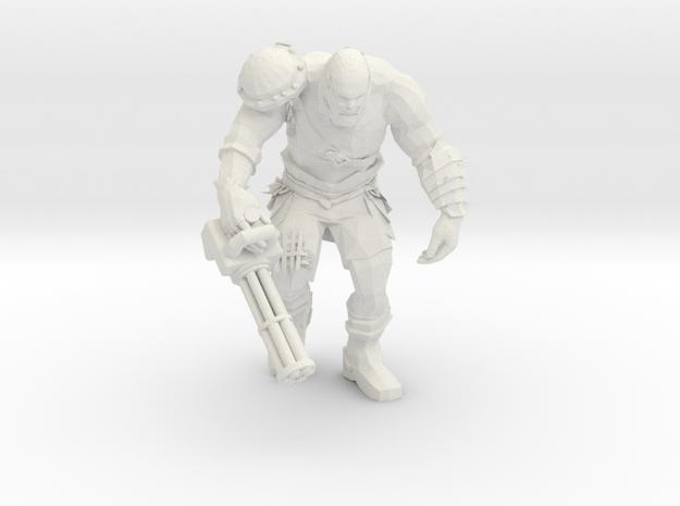 Mutant with Minigun in White Natural Versatile Plastic