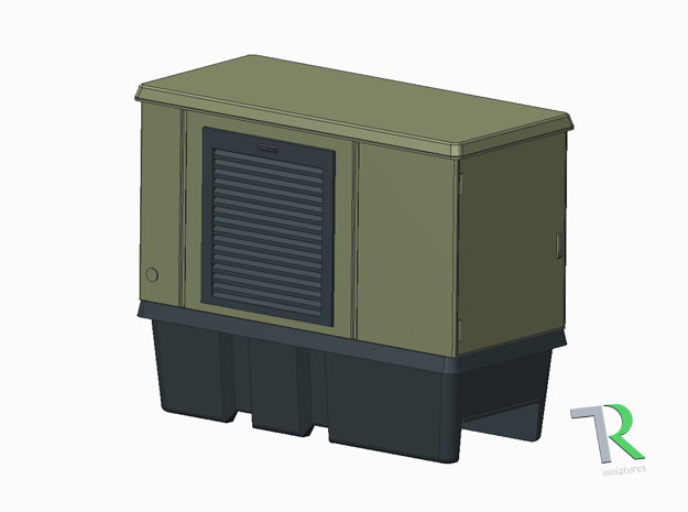H0 1:87 Trafostation / Kompaktstation in Smooth Fine Detail Plastic