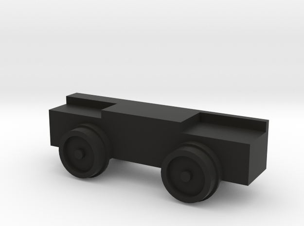 14mm gauge 7mm scale Simplex dummy chassis in Black Natural Versatile Plastic