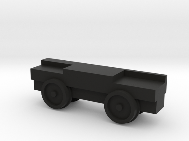 9mm gauge dummy simplex chassis in Black Natural Versatile Plastic